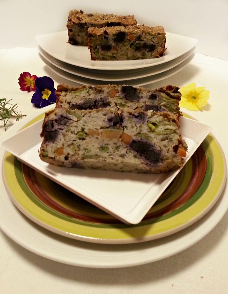 Plumcake salato alle verdure di primavera ricetta light