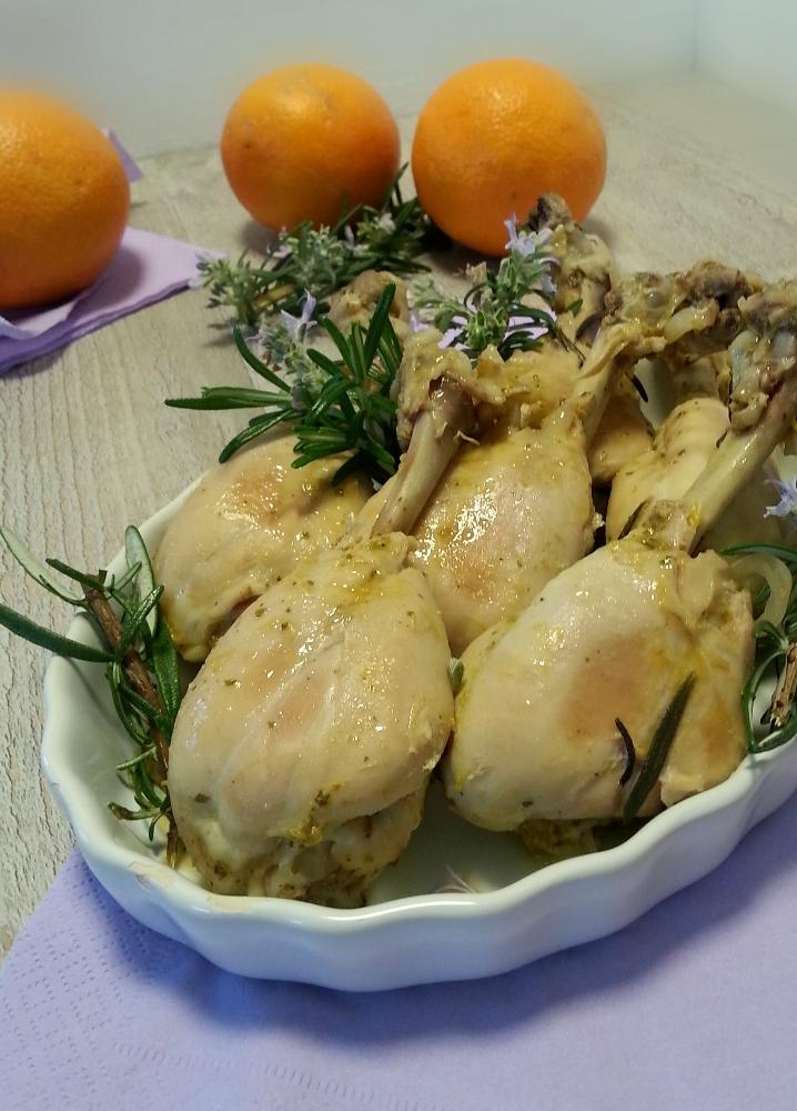 Fusi di pollo agli agrumi e rosmarino verticale