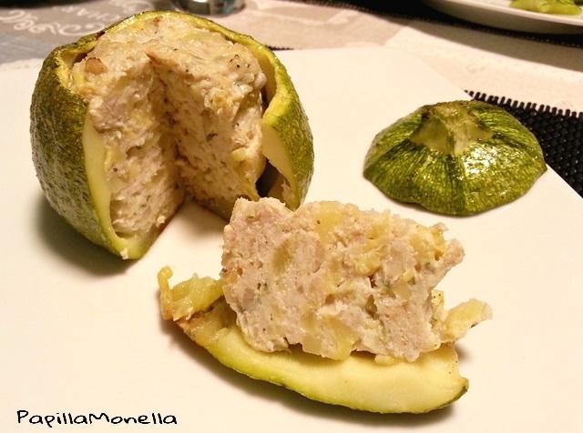 Zucchine ripiene al forno con pollo e senape ricetta facile
