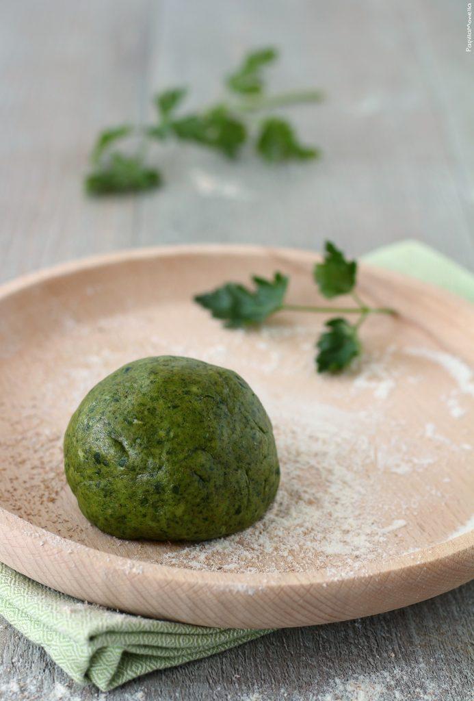 Pasta frolla verde salata vegana