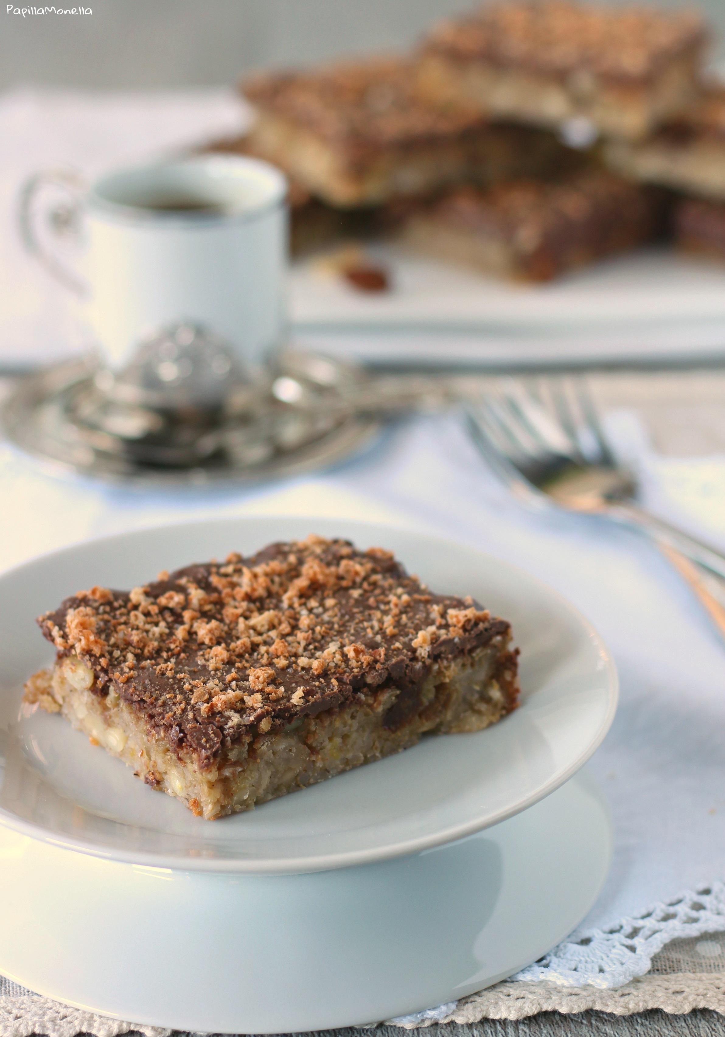 Quadrotti orzo mela e cioccolato senza grassi ricetta facile