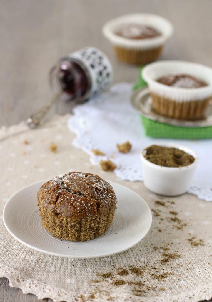 Vegan muffin alla farina di canapa e ciliegia light