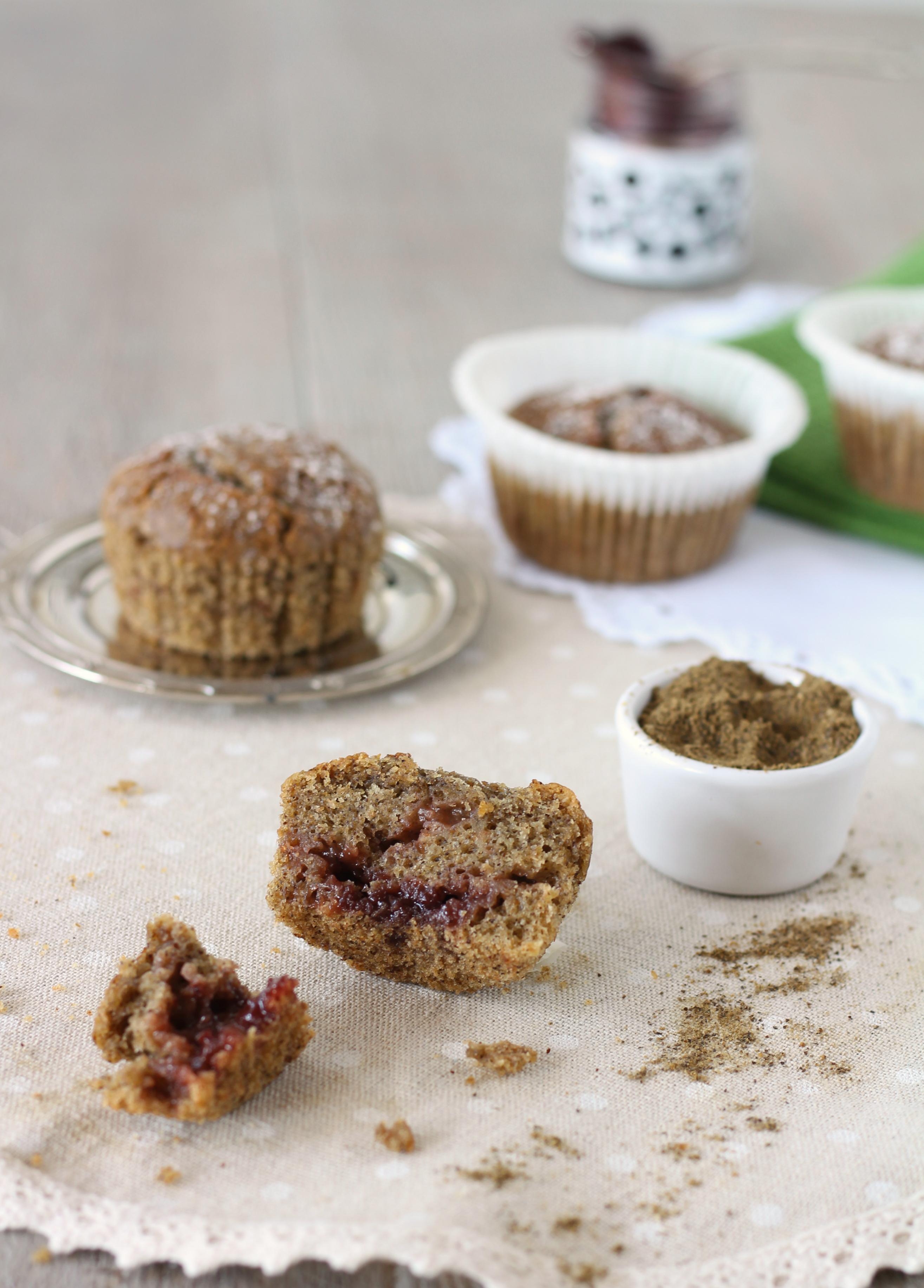 Vegan muffin alla farina di canapa e ciliegia veloci