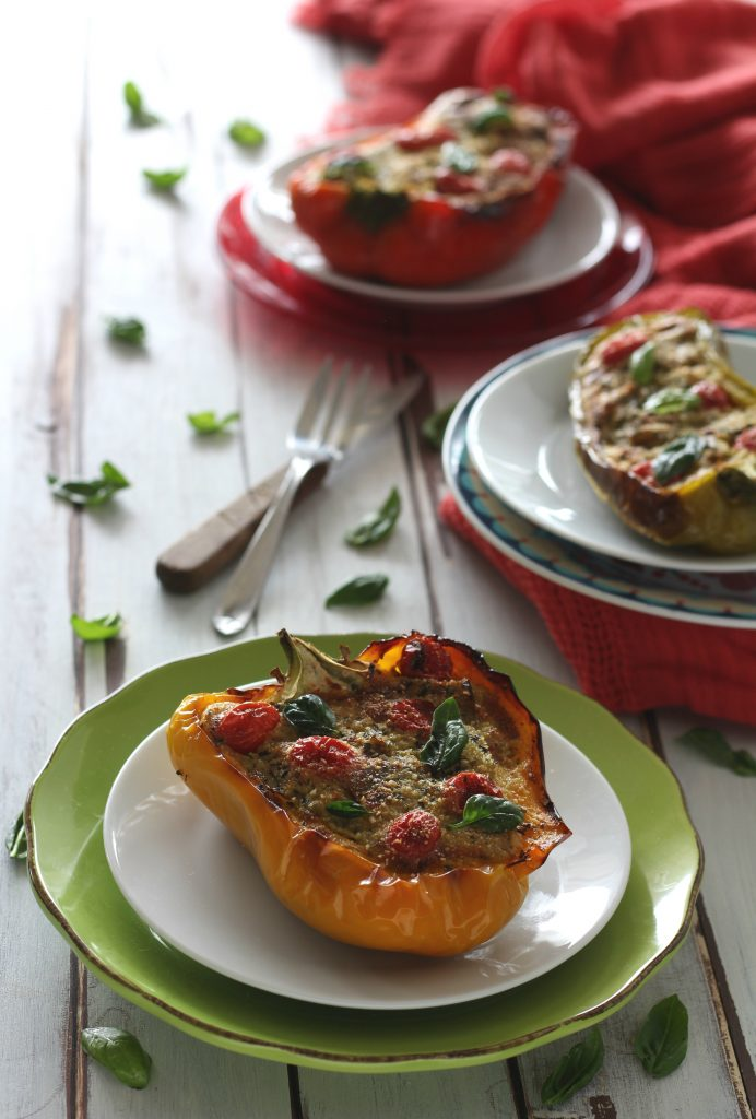 Peperoni ripieni di melanzane light