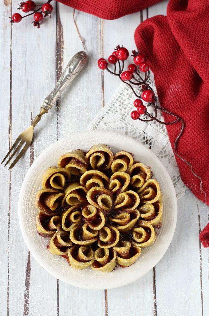 Torta fiore di sfoglia light ricotta e marmellata zenit