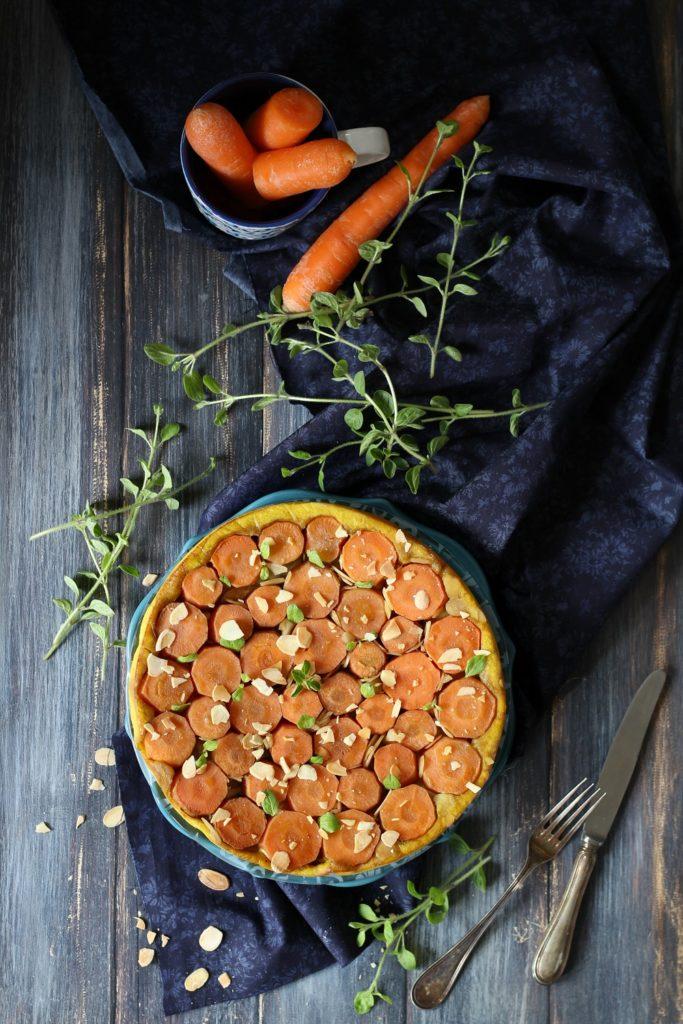 Tarte tatin alle carote e topinambur facile