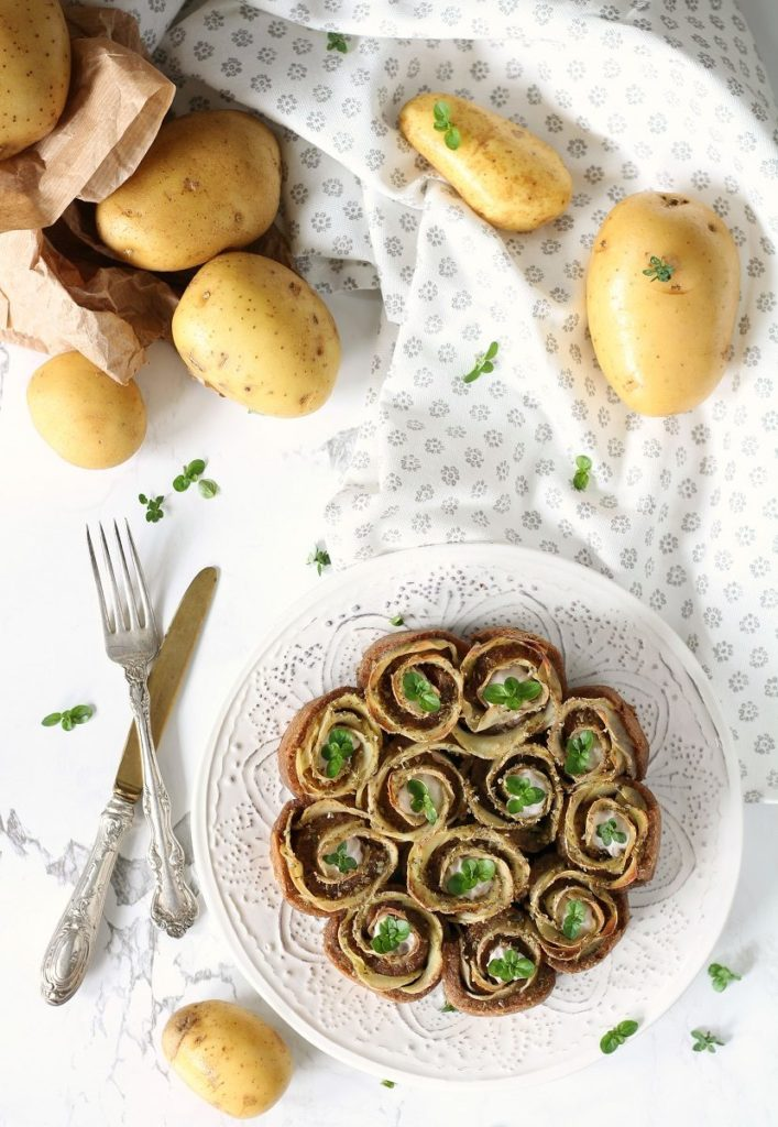 Torta salata con patate e senape light