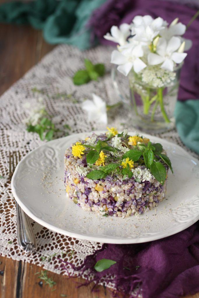 Insalata di grano saraceno e ricotta senza glutine