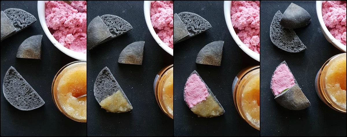 Spunciotti con stoccafisso in rosa e mostarda veneta procedimento
