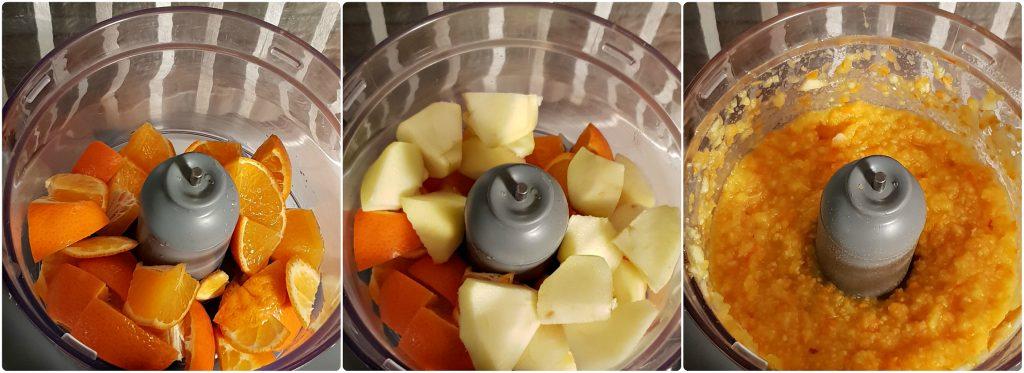 Ciambella veg di mandarini interi preparazione