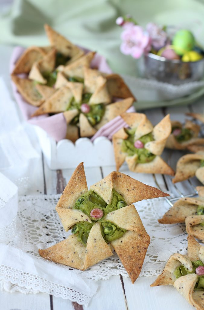 Girandole salate con frolla alla chia ricetta light