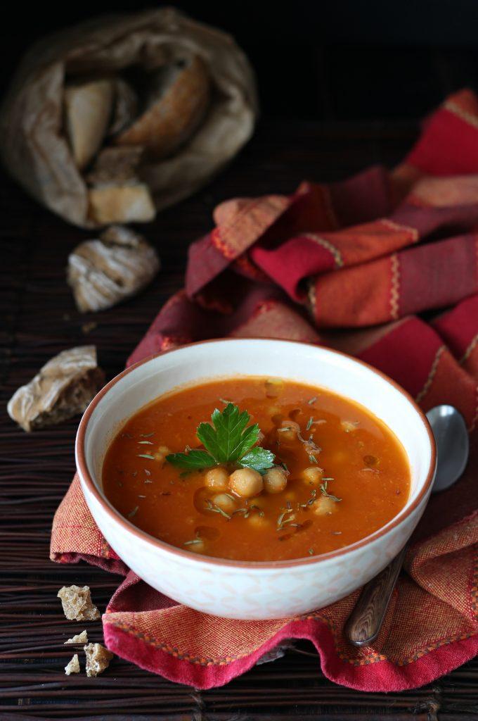 Zuppa di ceci e pomodorini allo zafferano Ciro Flagella
