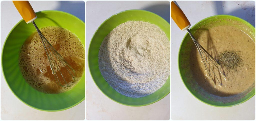 Vegan muffin arancia e rosmarino preparazione ricetta