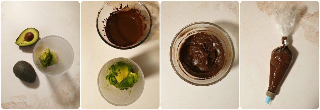 Avocado frosting vegano per cupcakes
