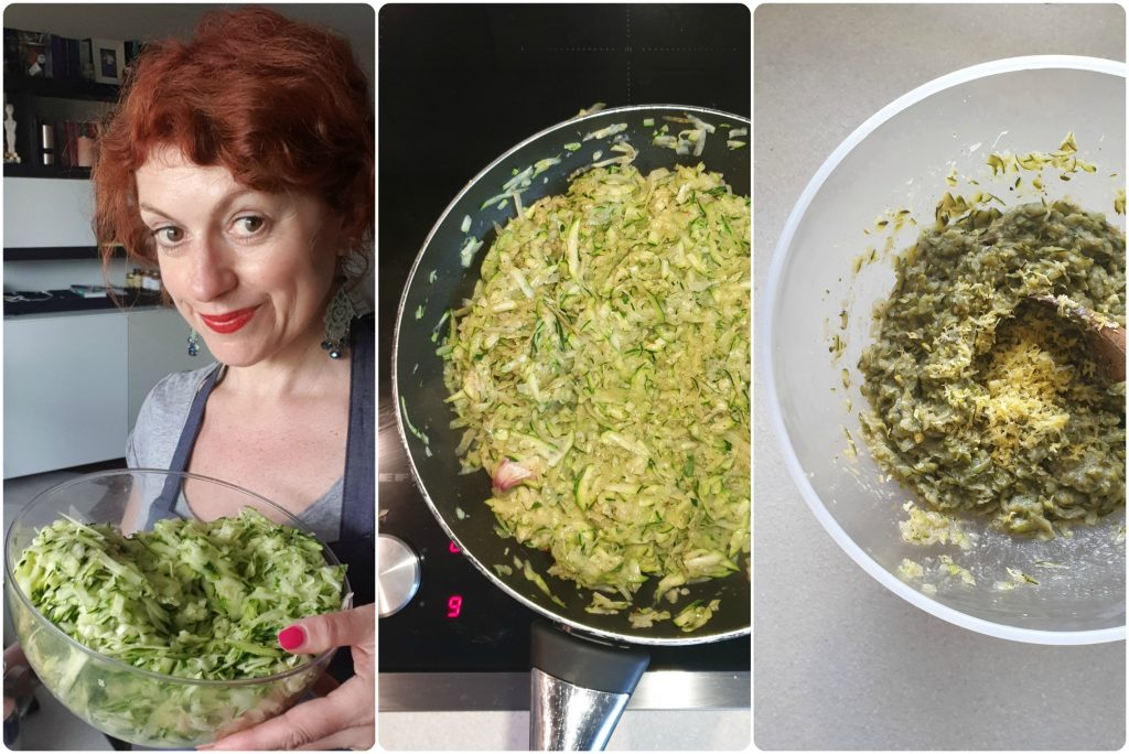 Polpette di zucchine e patate prepara il composto
