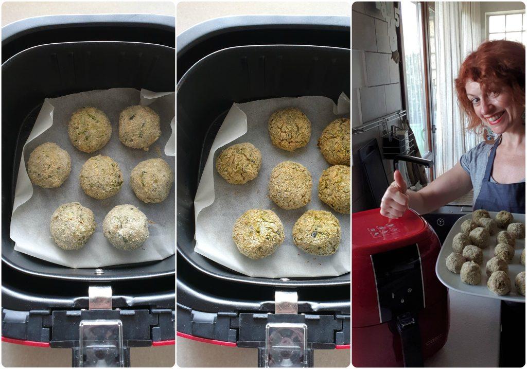 Polpette di zucchine e patate cottura con airfryer caso design