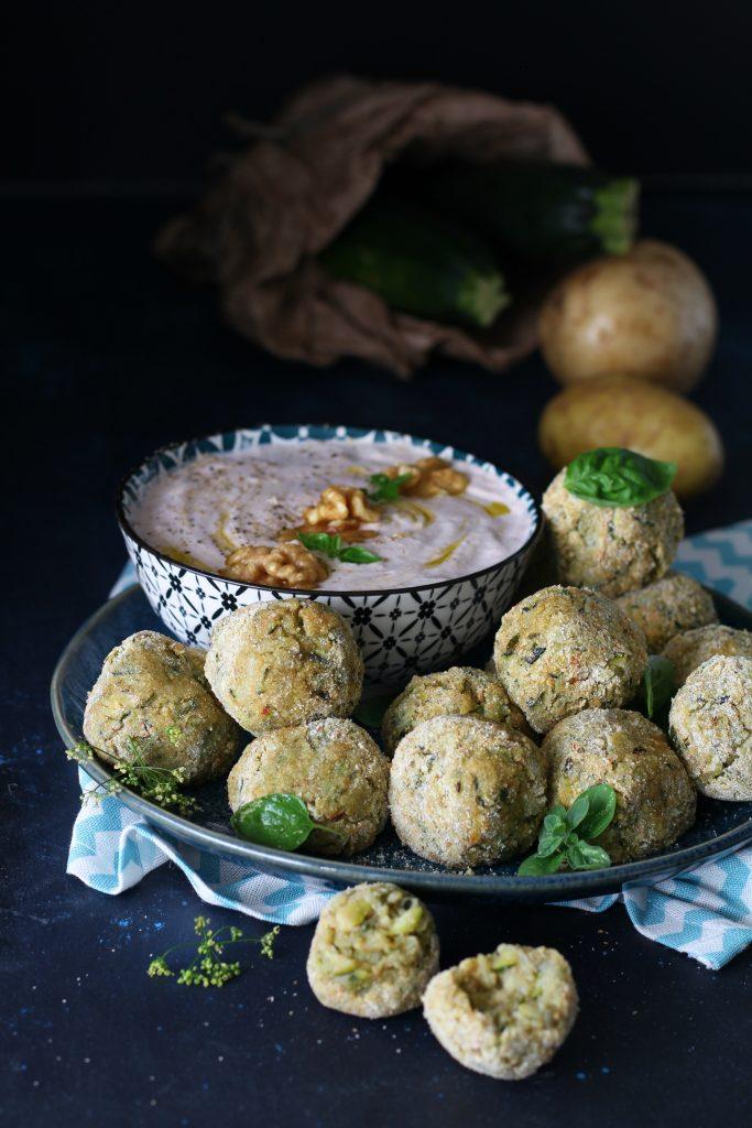 Polpette vegan di zucchine e patate con Airfryer facili e light