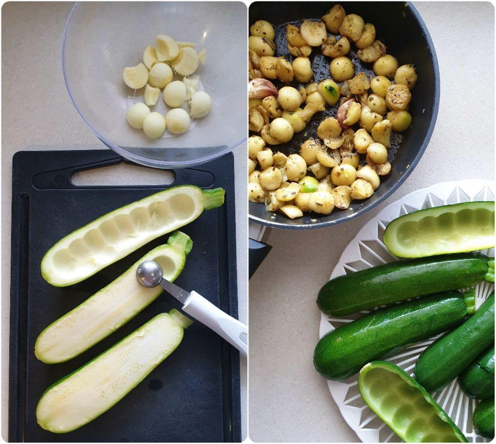 Zucchine cremose ripiene