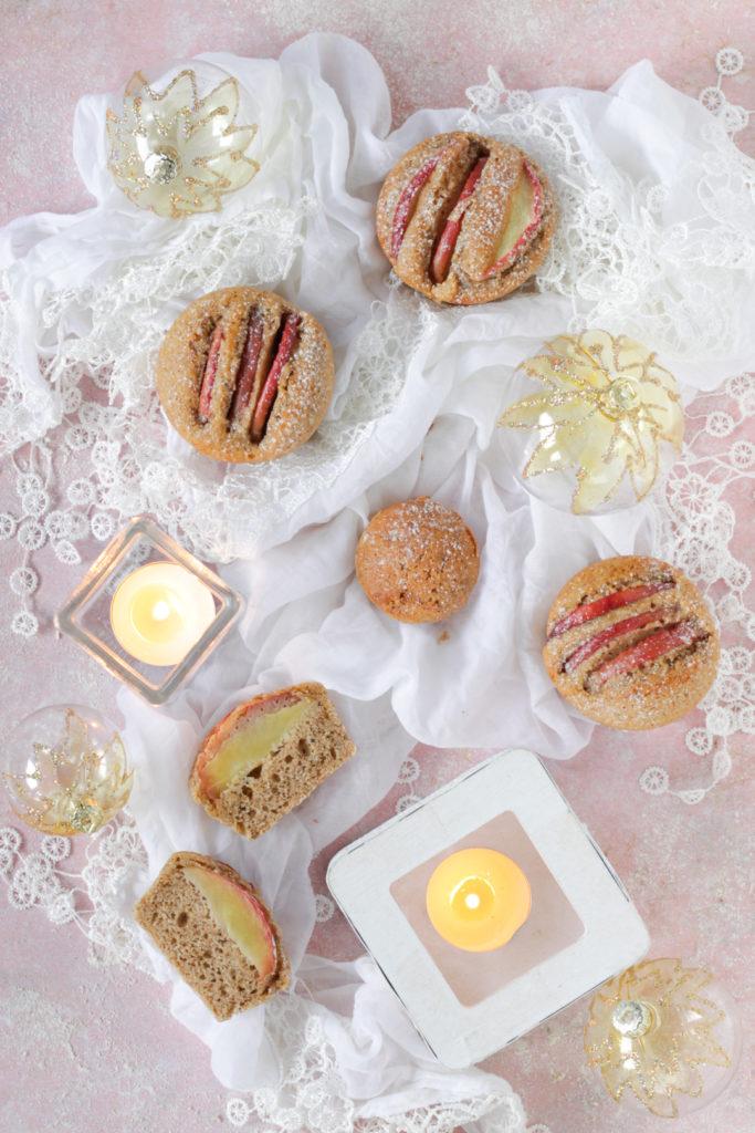 Muffin alle mele e spezie senza burro facili e senza planetaria