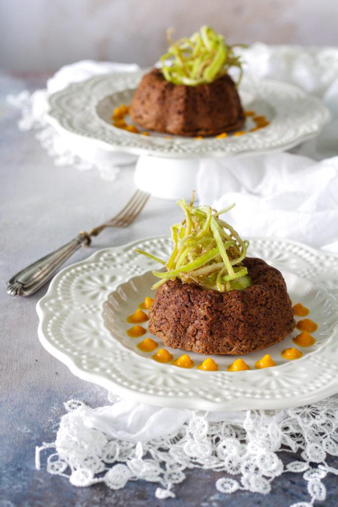 Sformato di lenticchie zucca e porro ricetta light