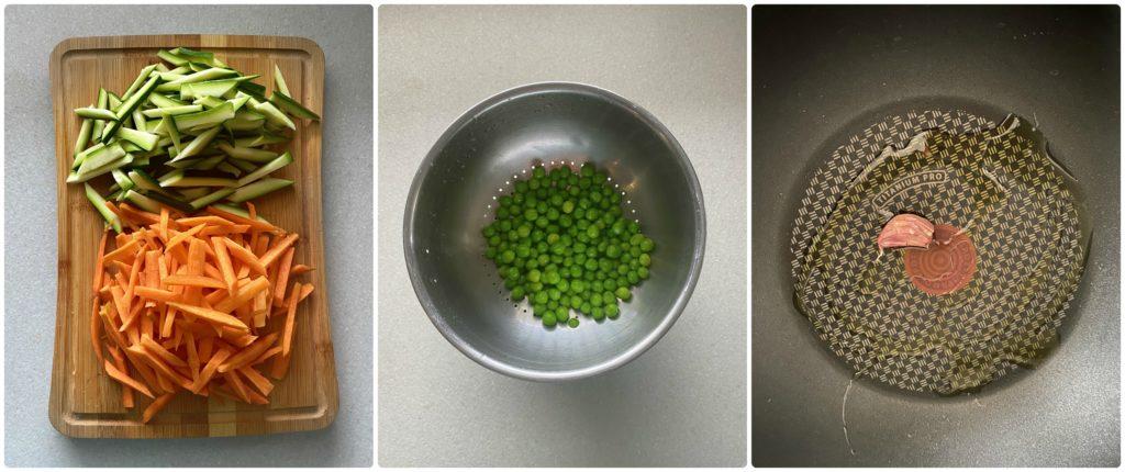 Tarte tatina salata vegetariana prepara le verdure