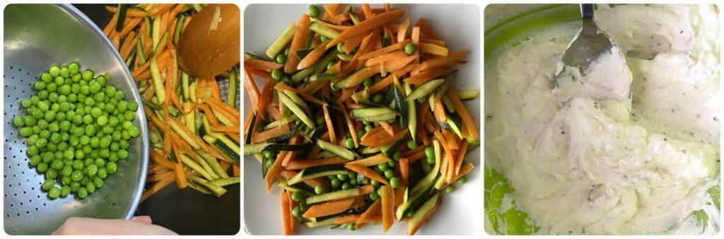 Tarte tatina salata vegetariana prepara la crema di ricotta