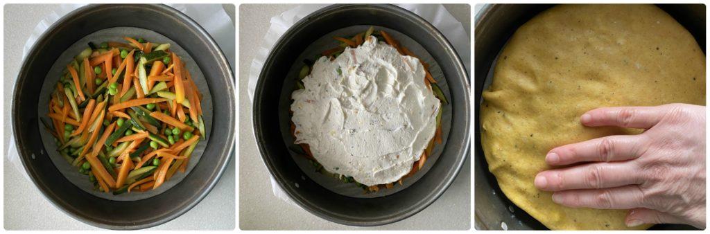 Tarte tatin salata verdure e ricotta comporre la torta