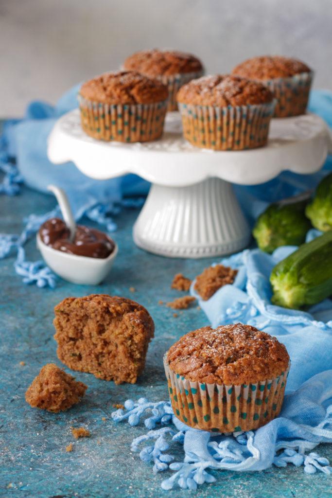 Muffin dolci zucchine e nocciolata senza lattosio facili e veloci