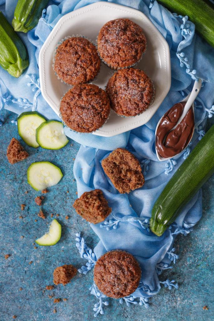 Muffin dolci zucchine e nocciolata senza burro