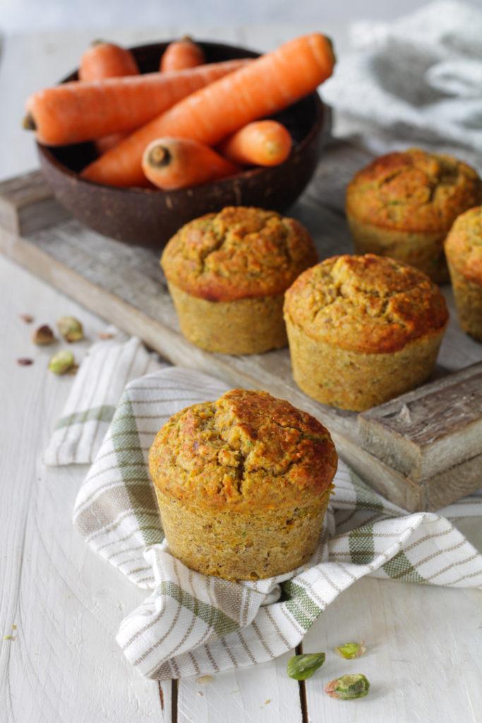 Muffin salati carote e pistacchi ricetta facile