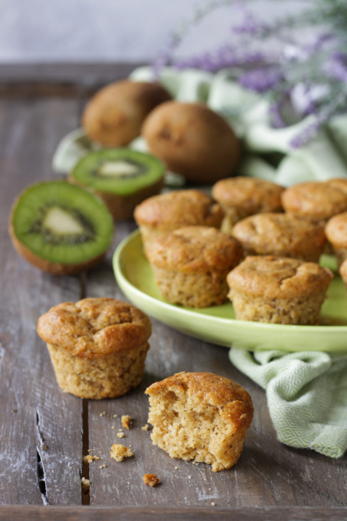 Muffin vegan ai kiwi frullati morbidi light