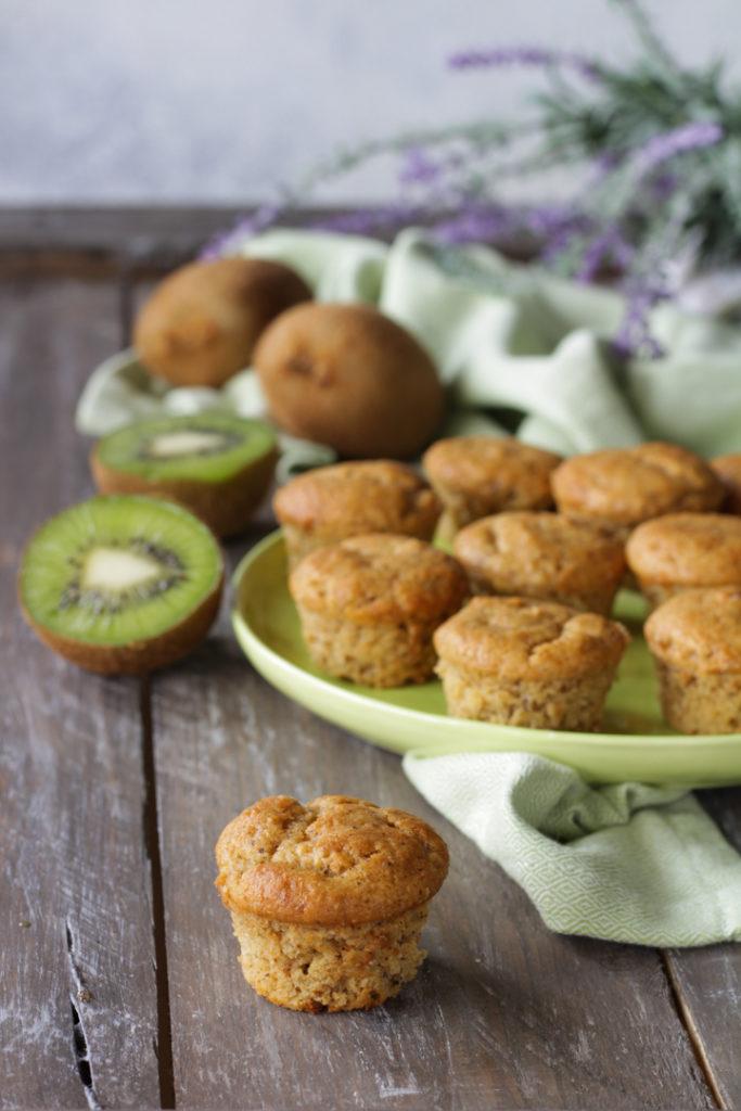 Muffin vegan ai kiwi frullati veloci light