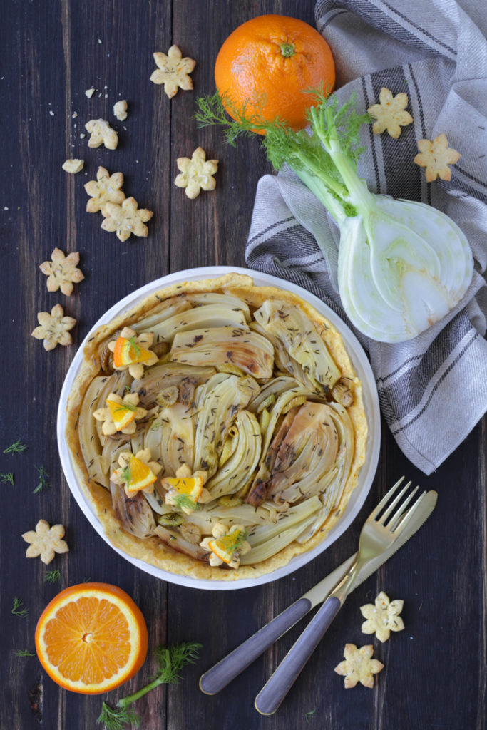 Tarte tatin finocchi e arancia ricetta vegan