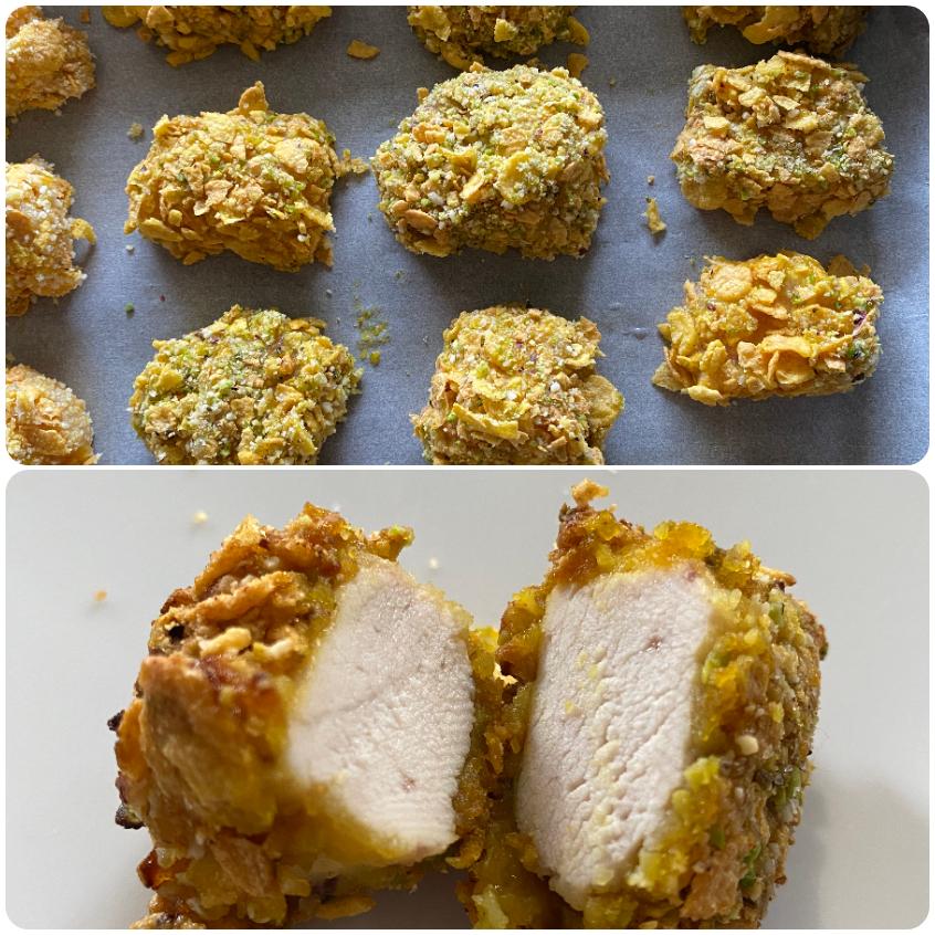 crocchette al forno con corn flakes