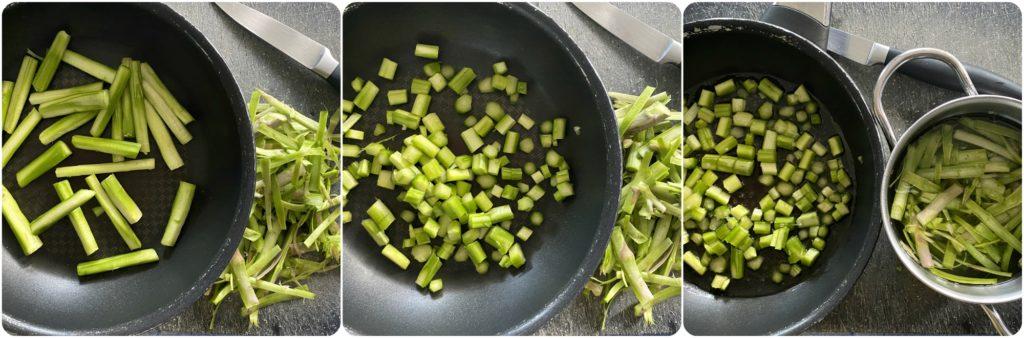 Come riciclare gambi duri degli asparagi