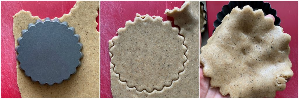 Crostatine vegan con grano saraceno preparazione frolla