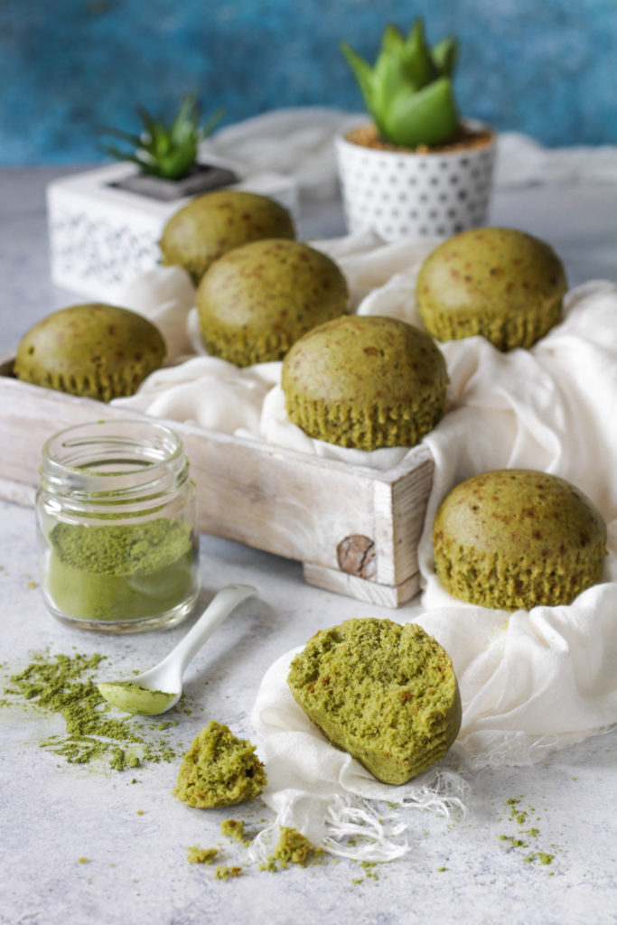 Muffin al vapore con tè Matcha golosi e facili