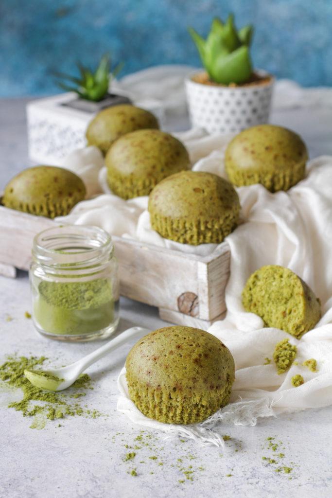 Muffin al vapore con tè Matcha facili e veloci