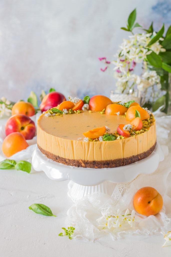 Cheesecake vegan senza cottura al succo di frutta ricetta facile
