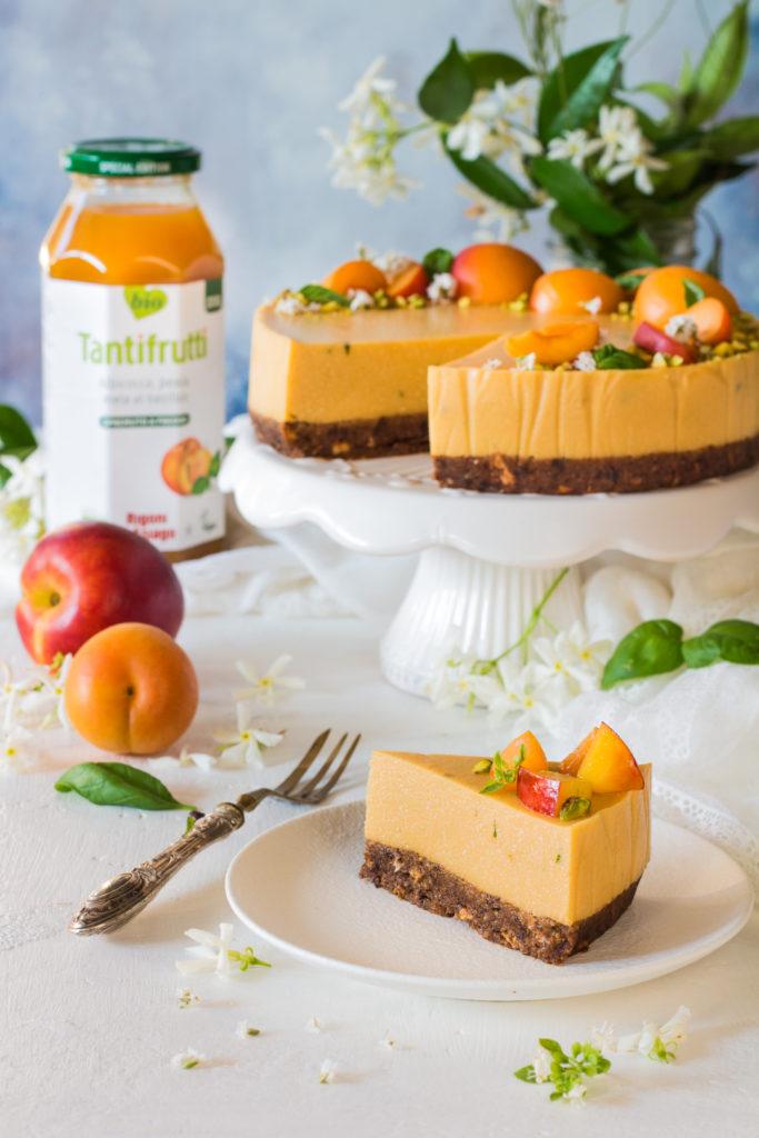 Cheesecake vegan senza cottura al succo di frutta rigoni di asiago