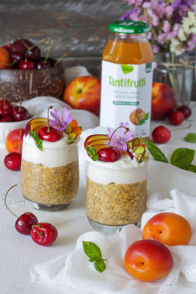 Overnight porridge al succo di frutta Rigoni di Asiago