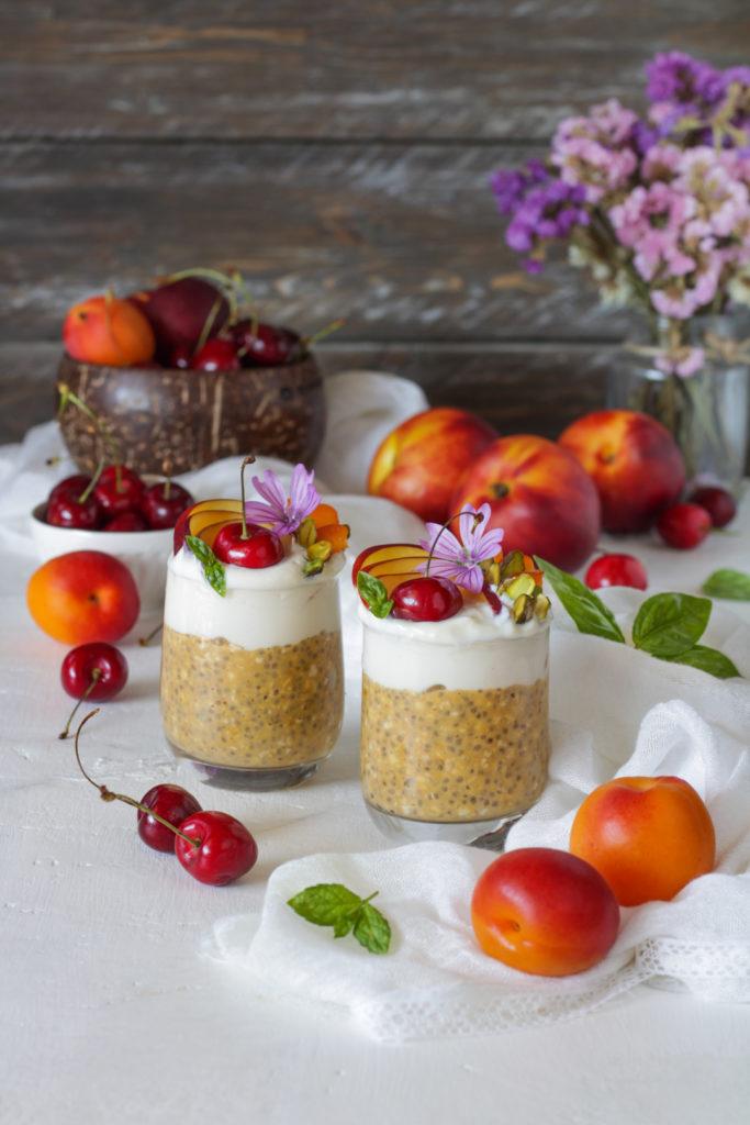 Overnight porridge al succo di frutta ricetta vegan