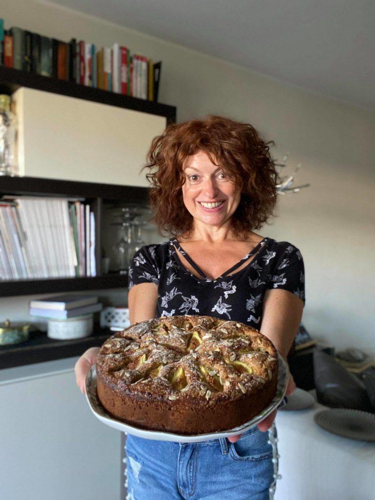 torta di fichi freschi e frullati pronta