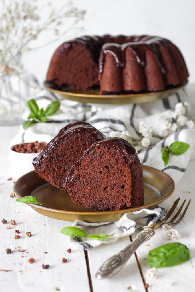 Ciambella vegan cioccolato basilico sichuan golosa leggera