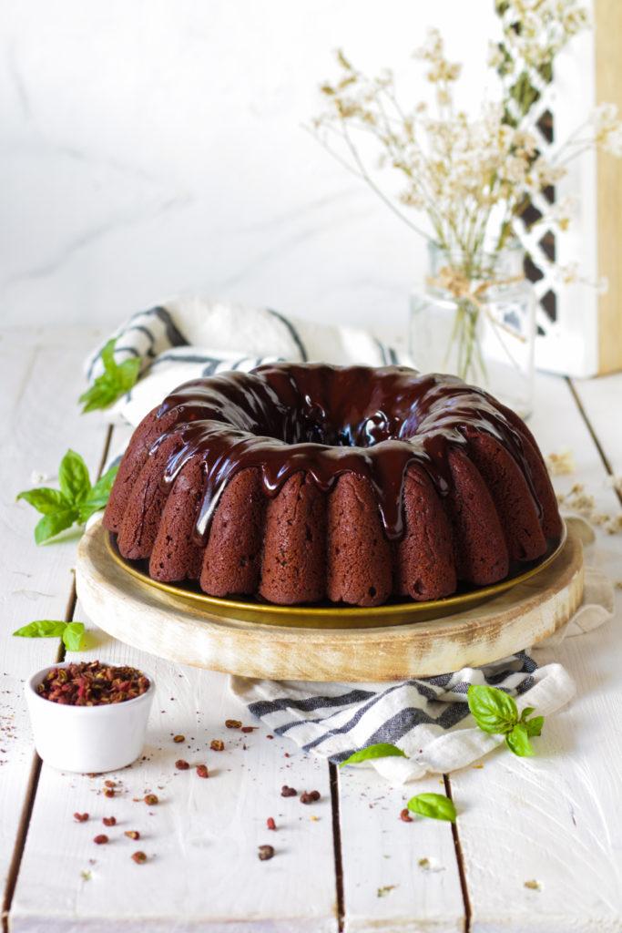 Ciambella vegan cioccolato basilico pepe sichuan