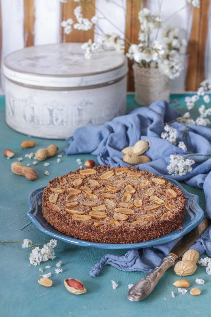Sbriciolata vegan con arachidi facile e veloce