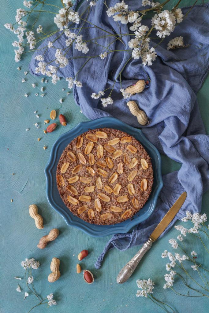 Sbriciolata vegan con arachidi