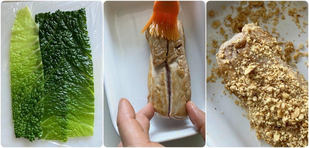 come bardare il filetto di maiale con verza e nocciole