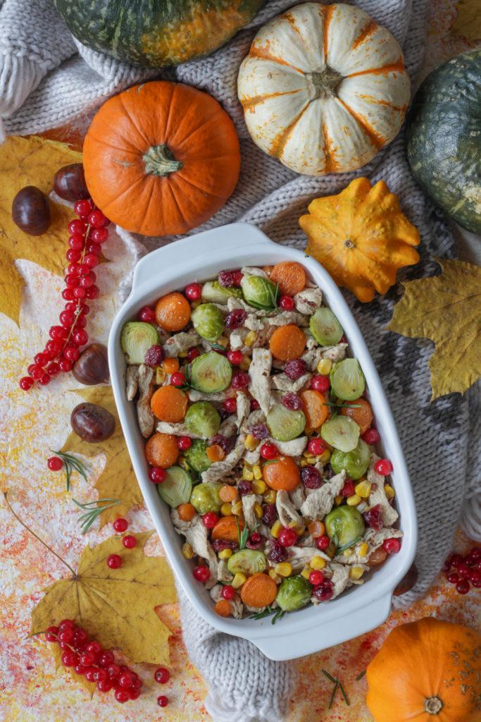 Terrina di tacchino con frutta e verdura autunnale ricetta facile