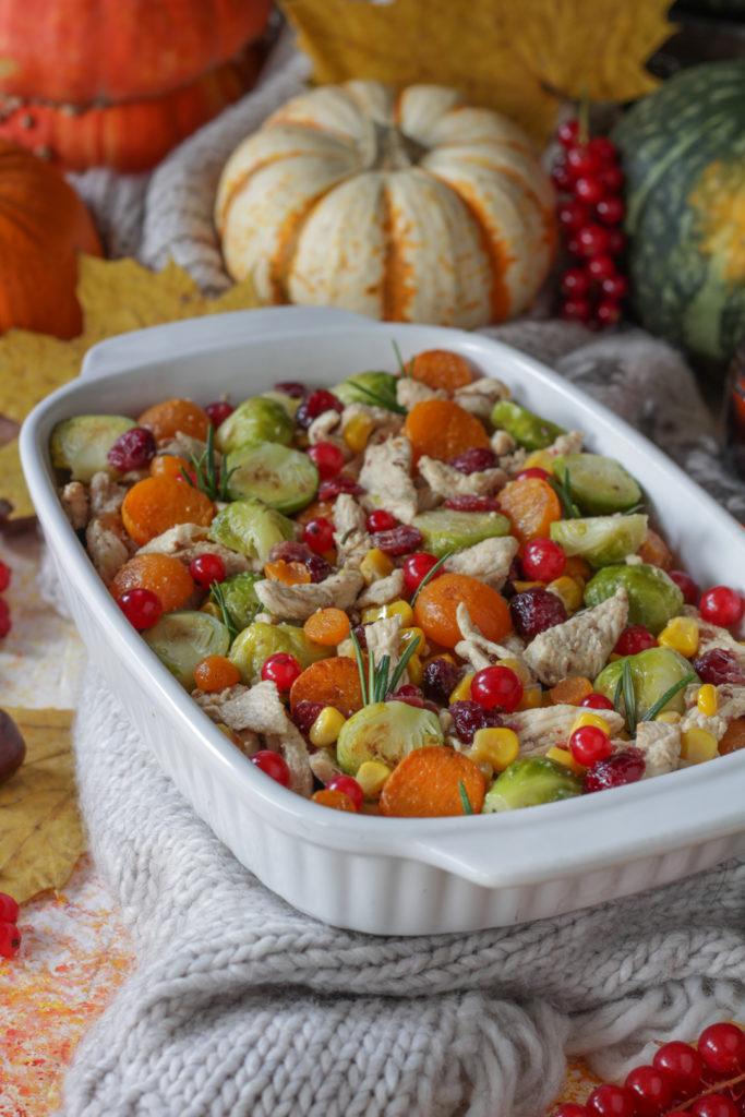 Terrina di tacchino con frutta e verdura autunnale ricetta thanksgiving